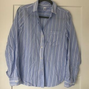 GAP long sleeved blue and white  striped top M